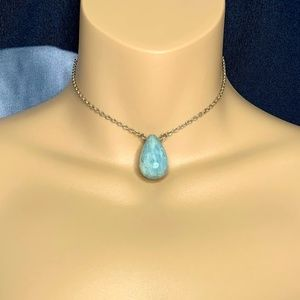 Jewelry - Natural Aquamarine Teardrop Choker